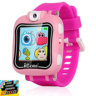 iCore Durable Kids Smartwatch, Kids Camera, Electronics Smart Watch for Kids Girls, Games for Kids Ages 4-8 Children Digital Watches, Built in Selfie-Camera Gadgets for Girls by iCore