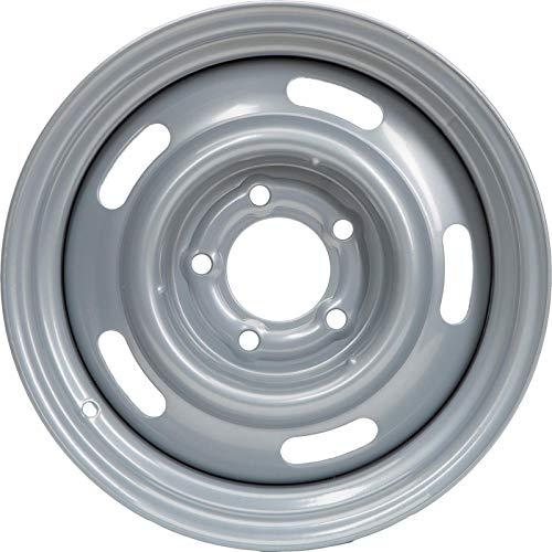Steel GM-Style 15x7 Rally Wheel, 5 on 5 Bolt Pattern, Silver