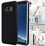 [ Monca ] Anti Gravity Cellphone Case [Black] Magical Nano Technology Stick to Wall, Glass, Whiteboards, Tile, Smooth Flat Surfaces (Goat Case for Galaxy S8 Plus)