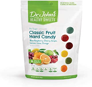 Dr. John's Healthy Sweets Sugar-Free Classic Fruit Hard Candies (3.85OZ)