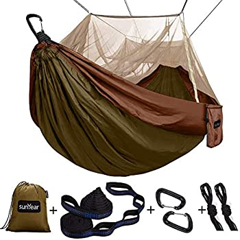 Sunyear Single Camping Hammock with Mosquito and Bug Net