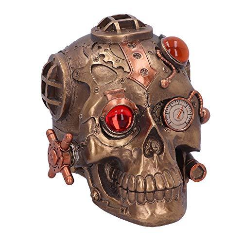 Nemesis Now Under Pressure Modified Skull Ornament Steampunk-Figura de Calavera...