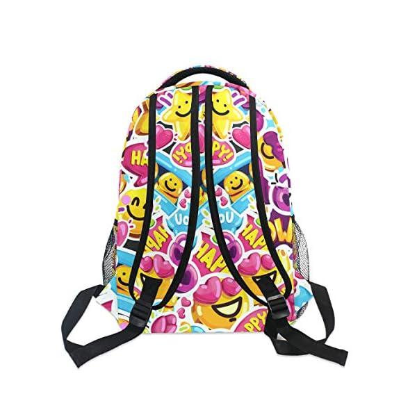 51z30PDdkvL. SS600  - Mochila Escolar con diseño de Emoji de Gran Capacidad, Mochila de Viaje Casual, Mujeres, Hombres, niñas y niños