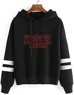 Flyself Unisex Stranger Things Sweatshirt Girls, Women Season 3 Hawkins Friends Don't Lie Letter Printed Hoodies Sports Ca...