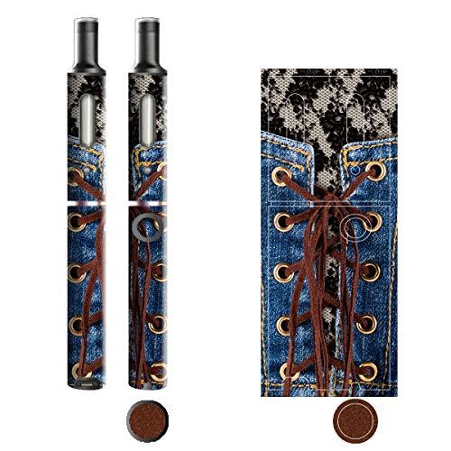 電子たばこ タバコ 煙草 喫煙具 専用スキンシール 対応機種 プルームテックプラスシール Ploom Tech Plus シール Jeans デニム モチーフコレクション 09 レースアップ 21-pt08-2237