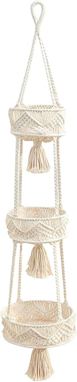 Cheng-store 3 Tier Hanging Fruit for Han Macrame High material Kitchen Direct sale of manufacturer Basket