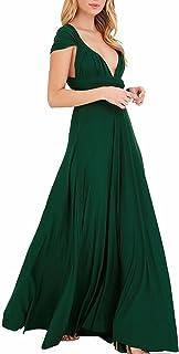 comprar comparacion EMMA Mujeres Falda Larga de Cóctel Vestido de Noche Dama de Honor Elegante sin Respaldo