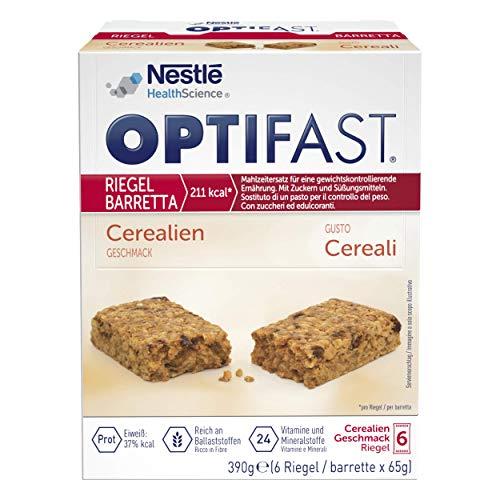 OPTIFAST KONZEPT Diät Riegel Cerealien zum Abnehmen | eiweißreicher Mahlzeitenersatz mit wichtigen Vitaminen und Mineralstoffen | schnell zubereitet und lecker im Geschmack | 6 x 65g