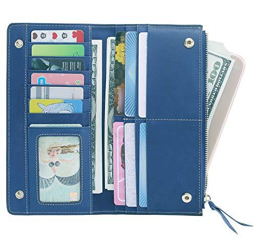 AINIMOER Luxury Large Women's Leather Long Zipper Wallet ladies Clutch Purse 2