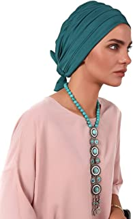 Gingerlining Lycra Fitted Pleat Turban Hijab for Women (Jade)