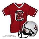Franklin Sports South Carolina Gamecocks Kids College Football Uniform Set - NCAA Youth Football Uniform Costume - Helmet, Jersey, Chinstrap - Youth M