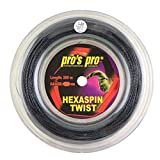 Pro's Pro Hexaspin Twist - Carrete de cuerda de tenis (200 m
