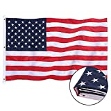 Jetlifee American Flag 6x10 Ft Embroidered Stars, Sewn Stripes, Brass Grommets US Flag.Outdoors Indoors USA Flags Polyester 6 x 10 Foot