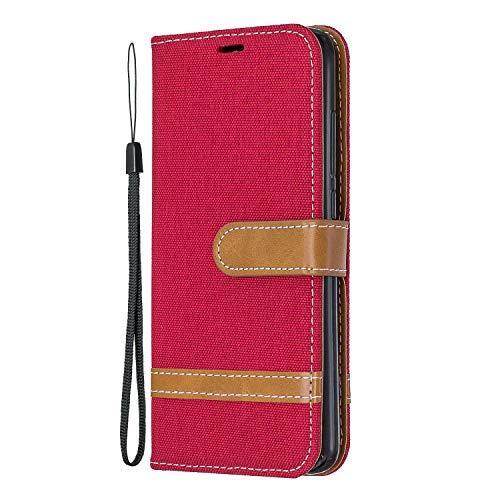 Hülle für Xiaomi Redmi 7A Hülle Handyhülle [Standfunktion] [Kartenfach] [Magnetverschluss] Schutzhülle lederhülle flip case für Xiaomi Redmi 7A - DEBF031264 Rot