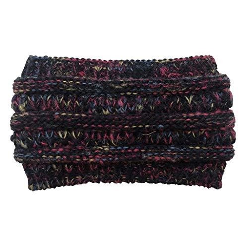 Higlles Magic Hairband Winterwarmes Strickhaarband Mit Weichem Futter Schlauchschal Stirnband Mütze Damen Stirnbänder Alternative Bekleidung