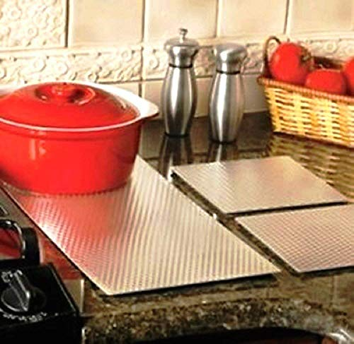 """WD - KC Insulated Non Skid Kitchen Counter Saver Protection Mat/Liners - Choose Size (7"""" x 7"""" Sq. Set of 2)"""