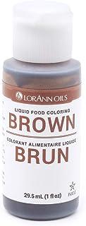 LorAnn Brown Liquid Food Color, 1 ounce squeeze bottle