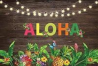 夏休みの写真の背景ハワイのヤシの木の海辺のビーチパーティーのベビーシャワーの写真の背景の写真スタジオの背景の写真の背景