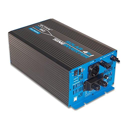 ECTIVE 1500W 12V zu 230V SSI-Serie Reiner Sinus Wechselrichter mit Ladegerät MPPT-Solarladeregler und NVS in 5 Varianten: 1000W - 3000W