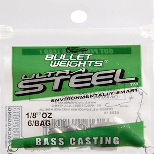 Bullet Weights Bass Casting Sinkers 1/8 oz. 6 pc