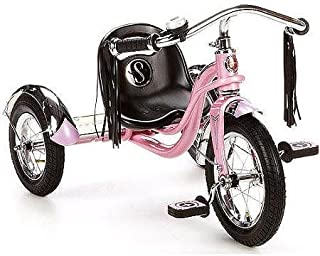 12 Schwinn Roadster Trike, Retro-Styled Classic Tricycle Frame with Low Center of Gravity, Color Pink by Schwinn