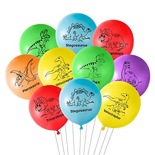 TUPARKA 18 Pz 12 Pollici Dinosauro Palloncini in Lattice Dinosauro Palloncini Compleanno per Dinosauro Decorazioni per Feste