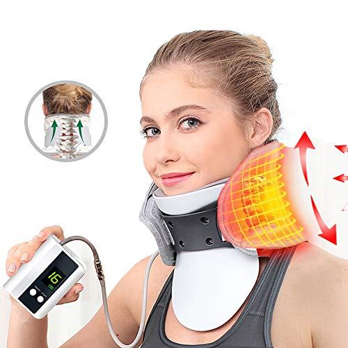 FMXYMC Smart Control Elektrische Wärme Aufblasbare Nackentraktor Air Cervical Device Therapie Einstellbare Massagegerät Schmerzlindern Trage