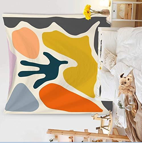 KHKJ Pintura Colgante de Pared Tapiz Manta Decoración Sala de Estar Arte Tapiz Alfombra Boho Toalla Colgante de Pared Macramé A1 95x73cm