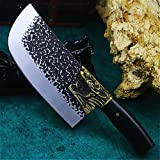 Cuchillos de cocina auténtica japonesa forjada a mano fantasma 58-60RHC cuchillo de cocina de corte de la mano del cuchillo del hogar cocina de acero inoxidable cuchillos afilados (Color : G cd5)