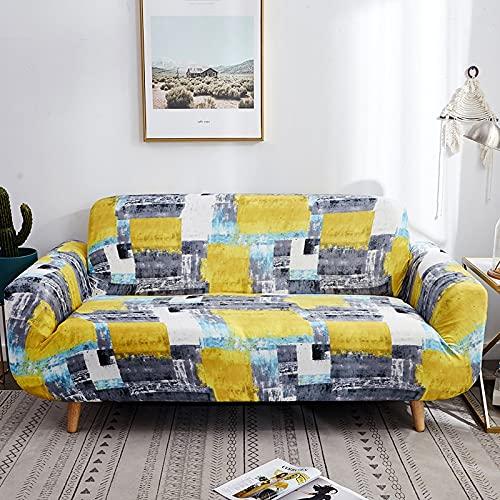 Patrón de Plumas Funda de sofá elástica Envoltura Ajustada Todo Incluido Toalla de sofá Antideslizante Funda de sofá seccional A13 1 Plaza