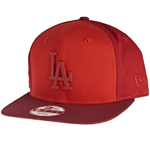 New Era 950 MB Pack Monochrome Snapback Baseball Cap (Medium-Large 56.8cm - 61.5cm, LA Dodgers - Red/Scarlet)