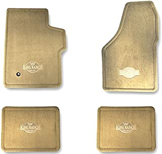 Oem Factory Stock Genuine 2008 2009 2010 Ford Super Duty F-250 F-350 Crew Cab King Ranch Tan Brown Carpet Floor Mats Set 4-pc Front & Rear