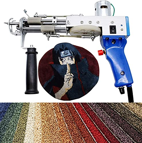 InLoveArts Pistola de mechones para alfombras eléctrica Máquina para tejer alfombras de 7-12 mm, herramientas de bricolaje para el hogar para tejer alfombras de alta velocidad (pila cortada)