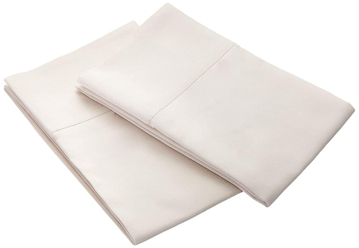HighCaliber Beddings 800 Thread Count 100% Egyptian Cotton 2 Pcs Pillow Cases Solid Pattern (Queen - 20 x 30 Inch, Ivory)