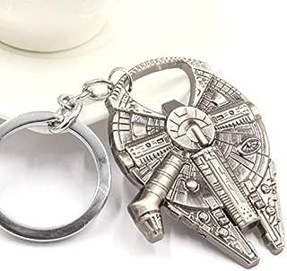 Star Wars Millennium Falcon Metal Alloy Bottle Opener & Keychain Spaceship Toy (Gray)