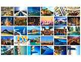 Travel postcards,Set of 30 Post cards variety pack depicting from Around the World Famous Travel Sites,Assorted Postcards Bulk, 4 x 6 -Dubai