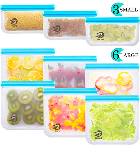 Buy Discount Reusable Storage Bags - Pack BPA FREE Freezer Food Container Ziplock for Sous Vide Liqu...