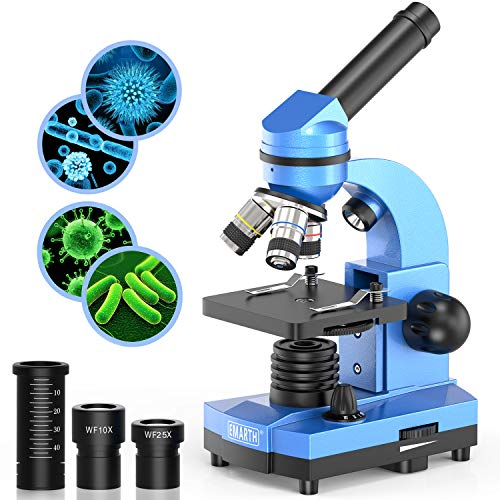 Microscope for Kids Beginners Children Student, 40X- 1000X Compound Microscopes with 52 pcs Educational Science Kits