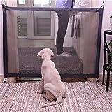Tragbar Hunde Türschutzgitter Faltbar Hundeschutzgitter Treppenschutzgitter Absperrgitter für Haustier Hunde Katzen 180*72CM