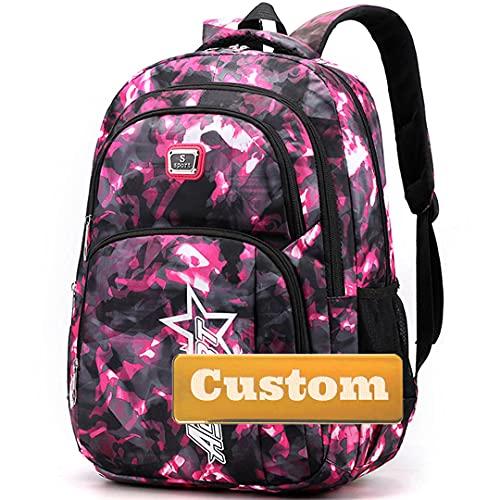 Nombre Personalizado Best Bag for Men Gaming Mochila portátil 15.6 Pulgadas Best Bag Portátil para niñas (Color : Pink, Size : One Size)