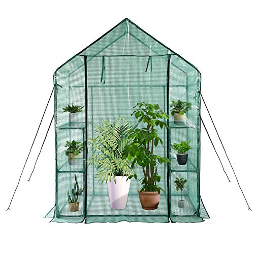 Greenhouse,Indoor and Outdoor Greenhouse,Window and Anchors Include,Grow Plants Seedlings Herbs or Flowers(56