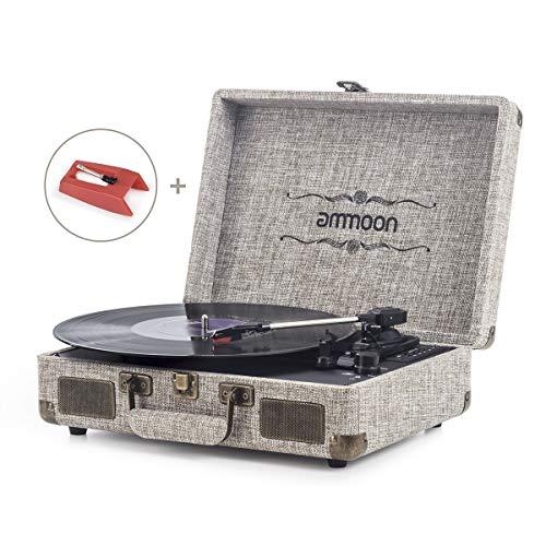 ammoon Platine Vinyle Bluetooth, Tourne Disque Retro...