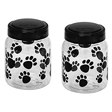 Snapware Airtight Food Storage Pet Treat Canister, Small, Pack of 2