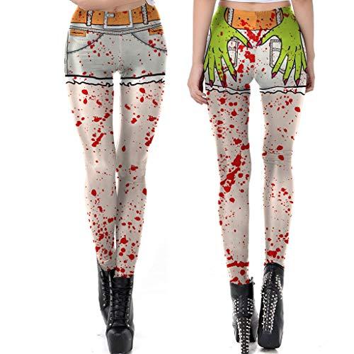Sale!! Women's Yoga Leggings,Personality Fashion Halloween Print Leggings, Tight Yoga Pants, Stret...
