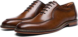 Fashion with Pig Leather Leather Outsole Leather Men's Shoes Dress Men's Shoes Gentleman Shoes Men's Boots (Color : Brown, Size : 45)