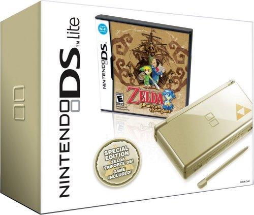Nintendo Ds Lite - Gold - Legend Of Zelda Phantom Hourglass
