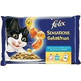 Purina Felix Sensations Gelatinas comida para gatos Selección Surtido de Pescados 10 x [4 x 100 g]