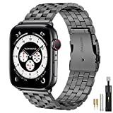Hallsen Compatible with Apple Watch Bands 44mm 42mm, Upgraded Solid Stainless...