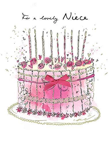 Moderne Geburtstagskarte für Nichte, 20,3 x 15,2 cm, Piccadilly Greetings