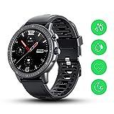 Byttron Smart Watch, 3,3 cm Touchscreen, wasserdichter Fitness-Tracker mit Herzfrequenz, Schlaf-Tracker, Schrittzähler, SMS-Anruf-Benachrichtigung für iOS- und Android-Handys